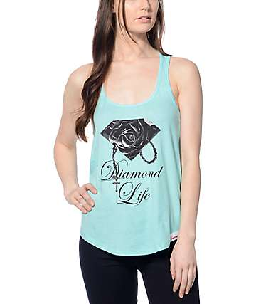 Diamond Supply Co. Rose Brilliant Mint Tank Top