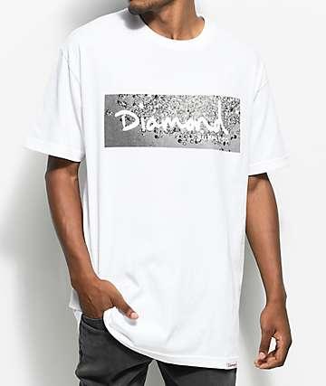 Diamond Supply Co. Scattered Box Logo camiseta blanca