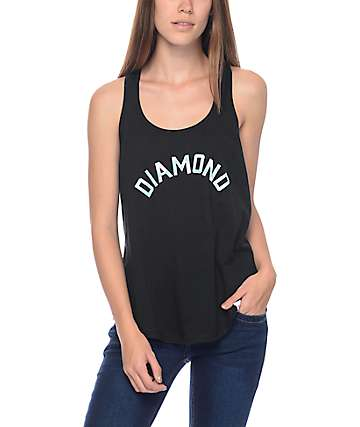 Diamond Supply Co. Simplicity Arch Black & Blue Racerback Tank Top