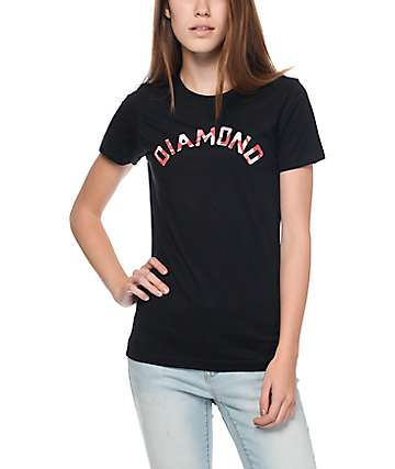 Diamond Supply Co. Simplicity Arch Black & Red T-Shirt