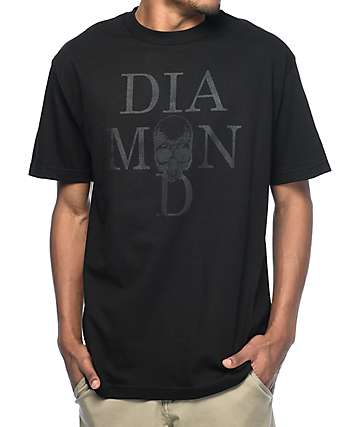 Diamond Supply Co. Skull Black T-Shirt