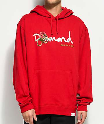 Diamond Supply Co. Snake OG Red Hoodie