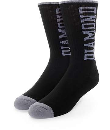 Diamond Supply Co. Solid Diamond High Black Crew Socks