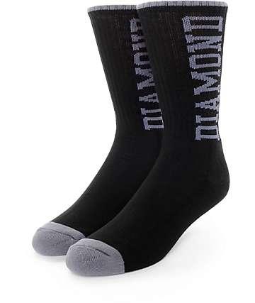 Diamond Supply Co. Solid Diamond High Black Crew Socks