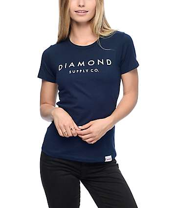 Diamond Supply Co. Solid Stone Navy T-Shirt