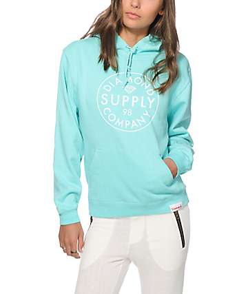 Diamond Supply Co. Stamped Blue Hoodie