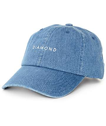 Diamond Supply Co. Stone Cut Denim Baseball Hat