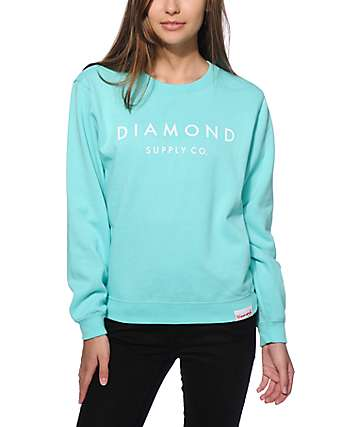 Diamond Supply Co. Stone Cut Diamond Crew Neck Sweatshirt