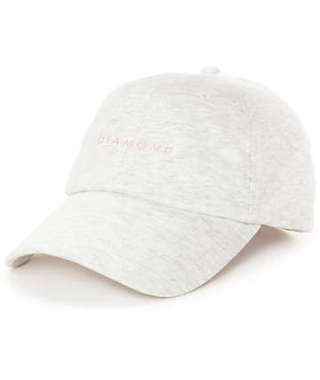Diamond Supply Co. Stone Cut Heather Grey Baseball Hat