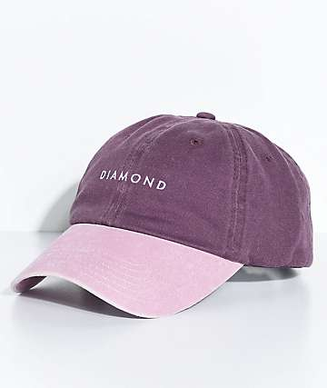 Diamond Supply Co. Stone Cut Purple Strapback Hat
