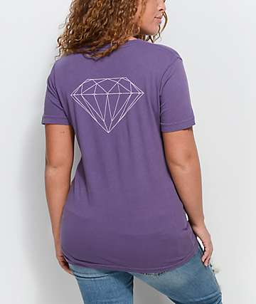 Diamond Supply Co. Stone Cut Purple T-Shirt