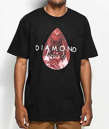 Diamond Supply Co. Tear Drop camiseta negra y roja