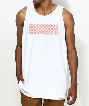 Diamond Supply Co. Tiles White Tank Top