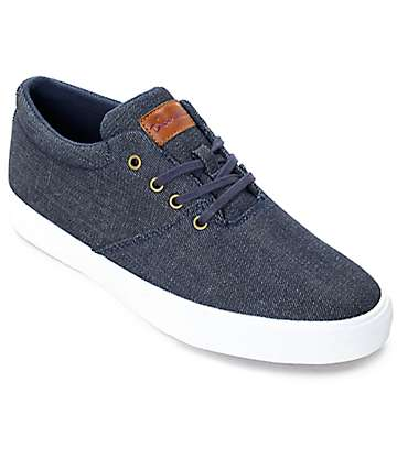 Diamond Supply Co. Torey Denim & White Skate Shoes