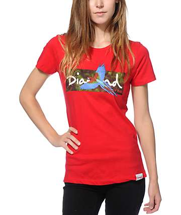 Diamond Supply Co. Tropical Bird Red T-Shirt