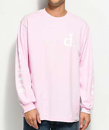 Diamond Supply Co. Un-Polo Pink Long Sleeve T-Shirt