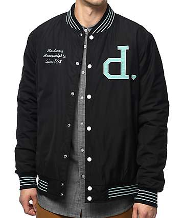 Diamond Supply Co. Un Polo chaqueta universitaria en negro