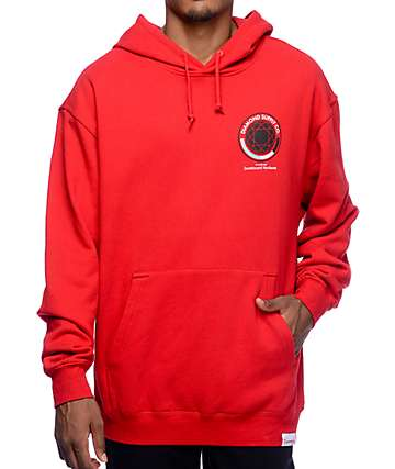Diamond Supply Co. World's Best Red Pullover Hoodie