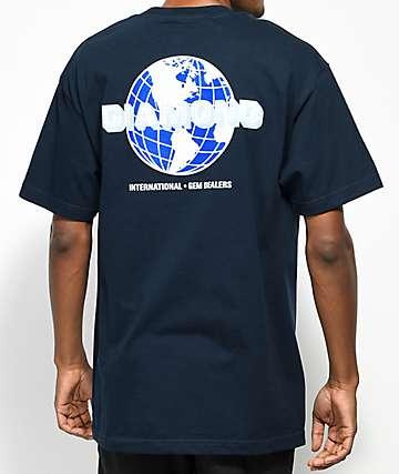 Diamond Supply Co. Worldwide camiseta en azul marino