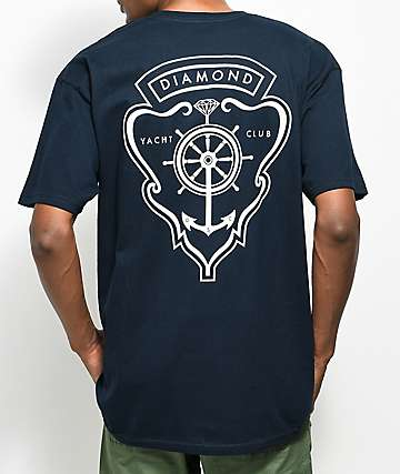 Diamond Supply Co. Yacht Crest Navy T-Shirt