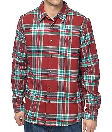 Diamond Supply Co. camisa de franela en color vino