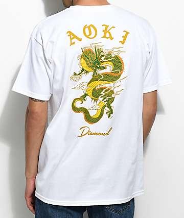 Diamond Supply Co. x Steve Aoki camiseta blanca