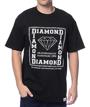 Diamond Supply Square City Black T-Shirt