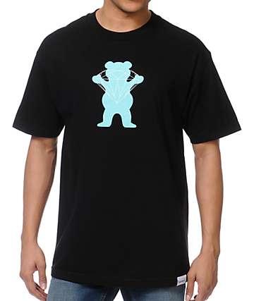 Diamond Supply x Grizzly Grip Tape Brilliant Bear Black T-Shirt