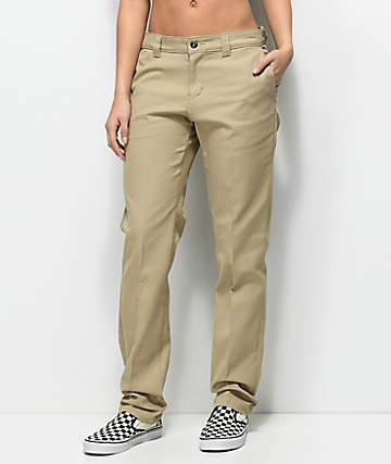 Dickies 67 Slim Straight Khaki Work Pants