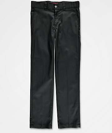 Dickies Boys Slim Flex Black Pants
