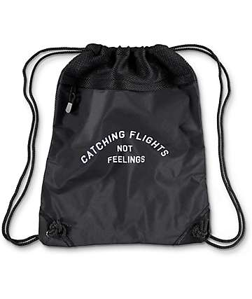 Dimepiece Catching Flights Black Cinch Backpack