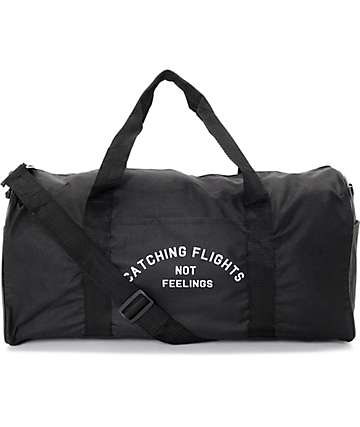 Dimepiece Catching Flights Not Feelings Black Duffle Bag