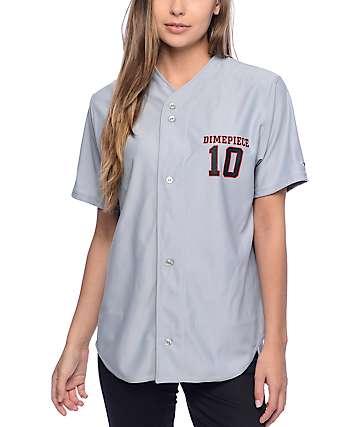 Dimepiece Logo Grey Baseball Jersey