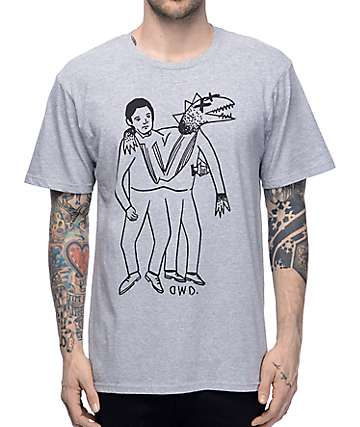 Dinosaurs Will Die Twins Heather Grey T-Shirt