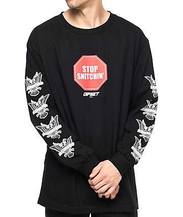 Dipset Stop Snitchin camiseta negra de manga larga