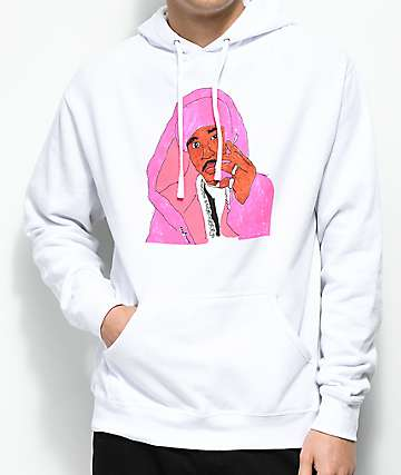 Dipset x Yung Lenox Pink Cam'ron White Hoodie