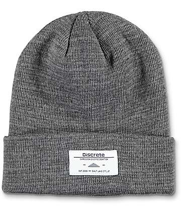 Discrete Alias Charcoal Fold Over Beanie