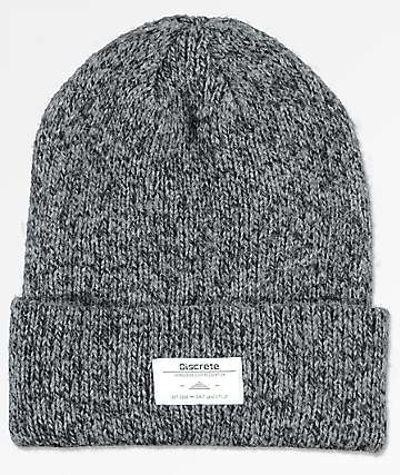 Discrete Cobol Heather Grey Beanie