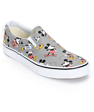 Disney x Vans Slip On Mickey Mouse Skate Shoes (Mens)