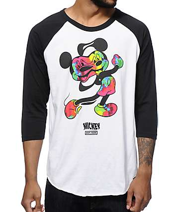Distorted Mickey Collection By Neff Bend Baseball T-Shirt