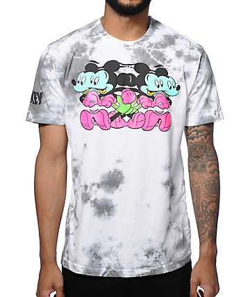 Distorted Mickey Collection By Neff Cambler Wash T-Shirt