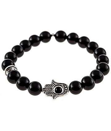 Divinity LA Hamsa Black Bracelet