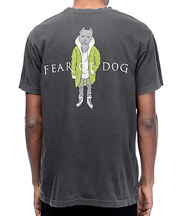 Dog Limited Fear Of Dog Black Wash T-Shirt