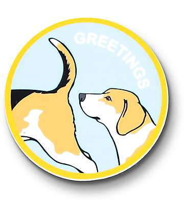 Dog Limited Greetings Sticker