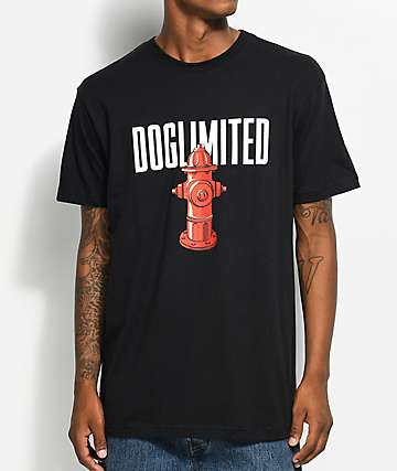 Dog Limited Hydrant camiseta negra