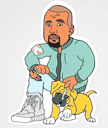 Dog Limited Kanye & Pup Sticker