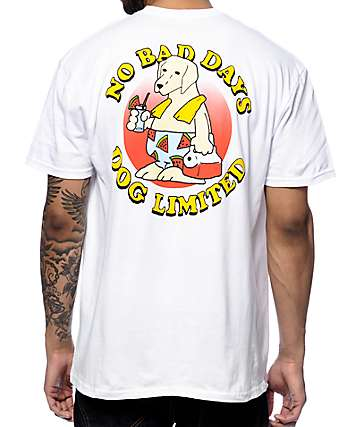Dog Limited No Bad Days White T-Shirt