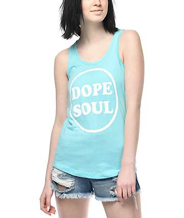 Dope Soul Cancun Light Blue Tank Top