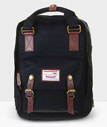 Doughnut Macaroon Black Backpack