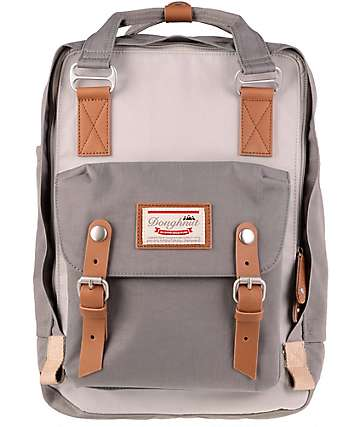 Doughnut Macaroon Ivory & Light Grey Backpack